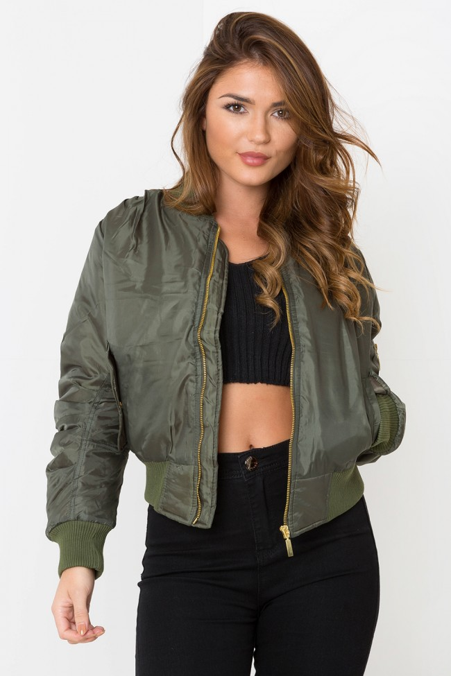 Army Bomber Jacket Khaki | LASULA