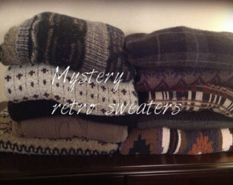 Mystery Sweater retro hipster by Cranberrymoons on Etsy