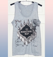 top,harry potter tank,gray tank top,tank top,workout top,women tops