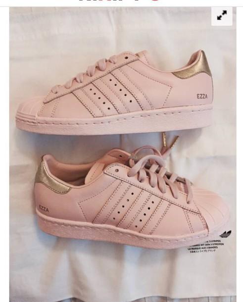 c1281f66b0c6 shoes baby pink superstar personalised adidas low top sneakers adidas  superstars pink sneakers