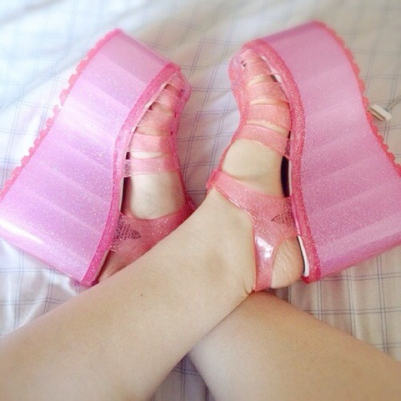 UNIF - UNIF HELLA JELLIES SIZE 9 PINK from Erin's closet on Poshmark