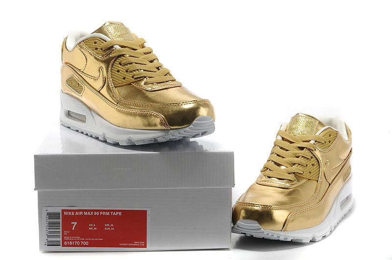 95 Air Max Shoes Gold