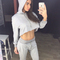 Women's hipster crop top sweatpants set