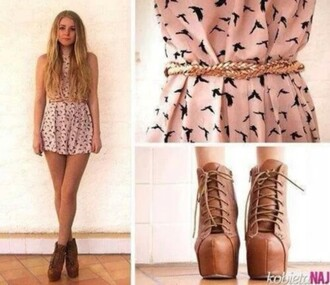 dress shoes birds pink brown black jeffrey campbell lita