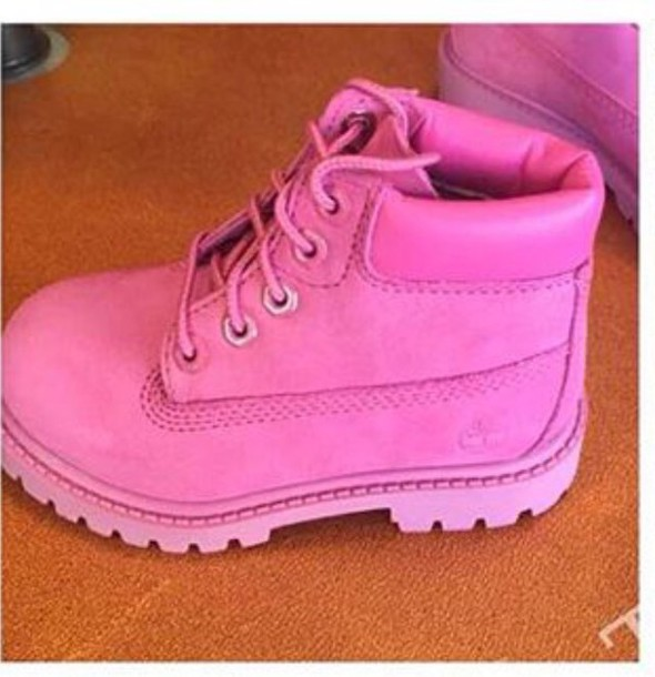 shoes timberlands pink kids fashion 99adfd3f7