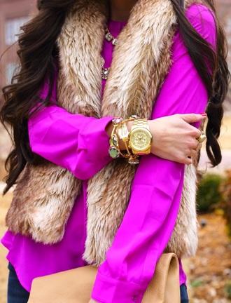 top vest fur vest style fashion