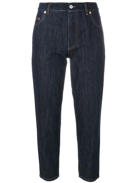 Miu Miu jeans cropped jeans cropped women cotton blue silk wool 24