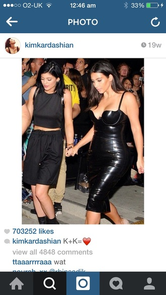 shorts kylie jenner basketball swag kardashians vinyl sexy dress bodycon dress black shorts