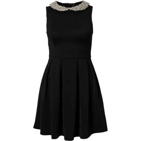 little black dress black dresses glitter golden glitter collar