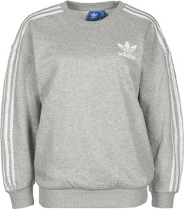adidas bb w sweater grijs flecked. Black Bedroom Furniture Sets. Home Design Ideas