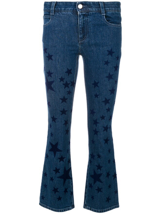 jeans flare jeans flare women spandex cotton print blue