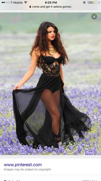 dress black dress selena gomez prom dress beautiful