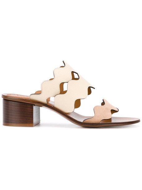 Chloe women sandals leather nude suede shoes