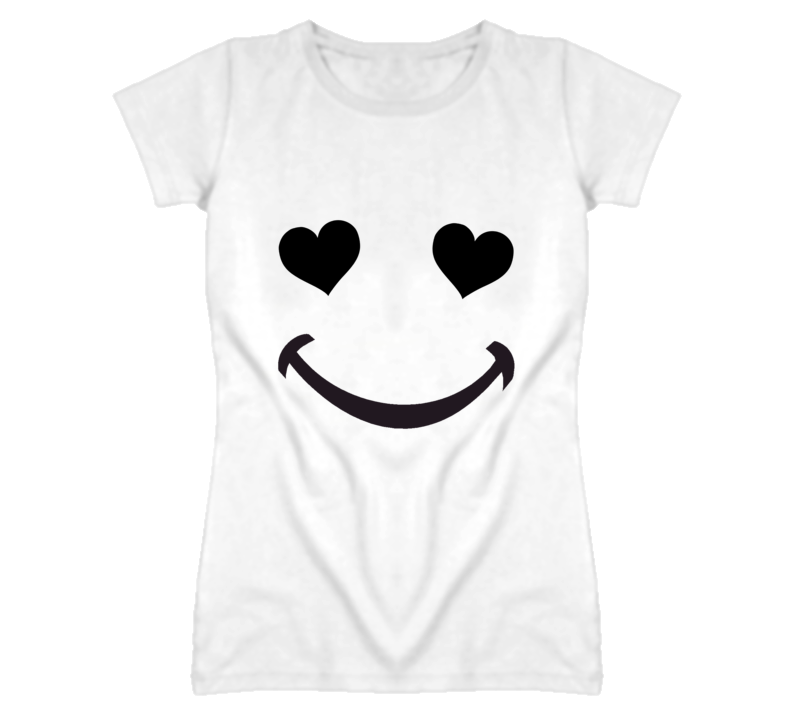 Heart Eyes Smile Cute Love Popular T Shirt