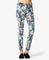 Tropical print skinny jeans