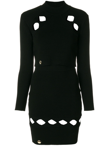 PHILIPP PLEIN dress winter dress women black