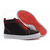 mens rantua orlato christian louboutin fabric high tops black and red