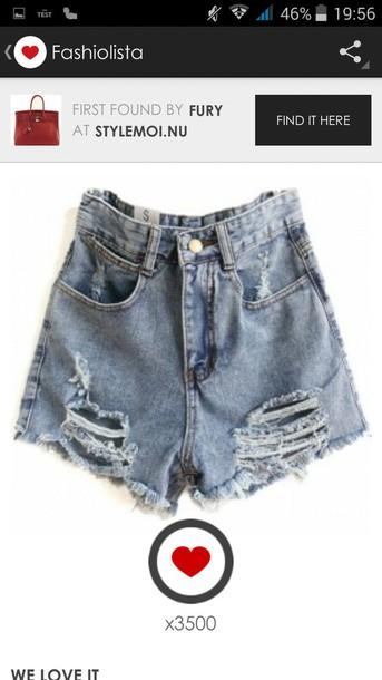 shorts short jeans dechirer