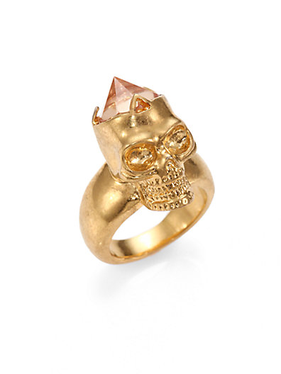 Alexander McQueen - Faceted Skull Ring - Saks.com
