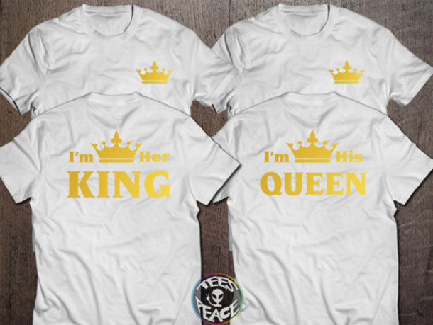 f8d5be502b t-shirt, king and queen shirts, king and queen, king, queen, crown ...