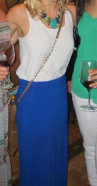 skirt blue skirt floor length