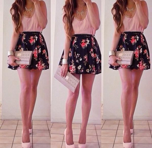 shirt skirt shoes bag dress
