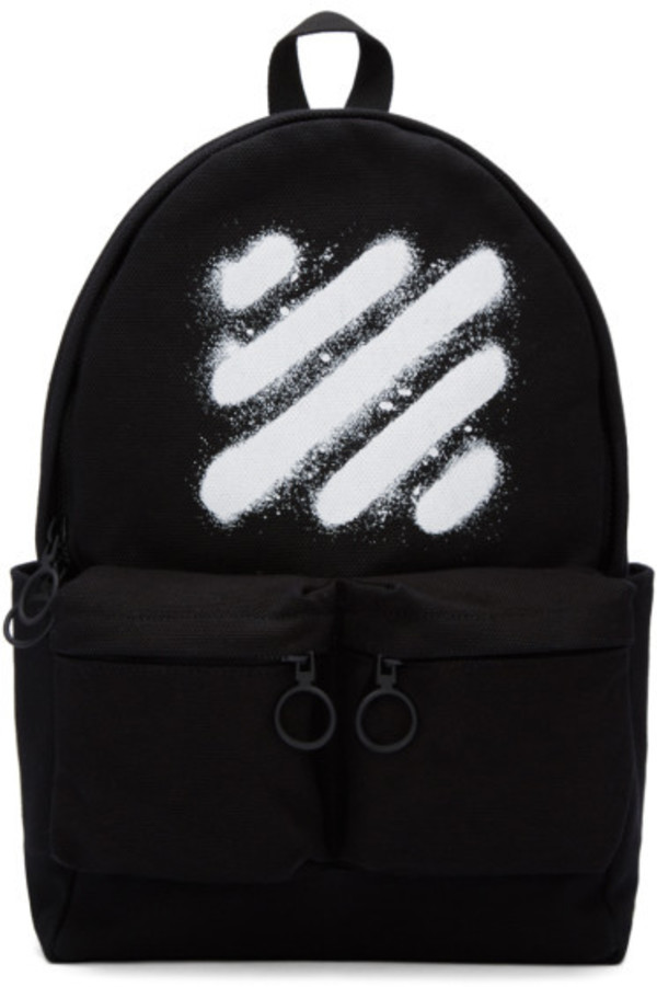 Off-White Black Diagonal Spray Backpack