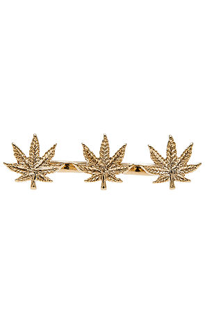 *MKL Accessories The High Life Triple Finger Ring in Gold : Karmaloop.com - Global Concrete Culture