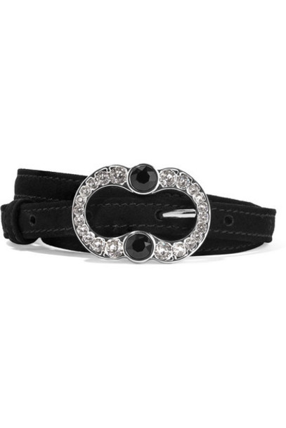embellished belt suede black