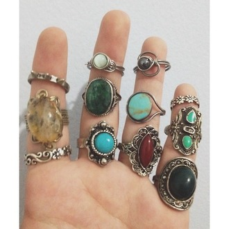 jewels undefined rings tiger print vintage hippie native american