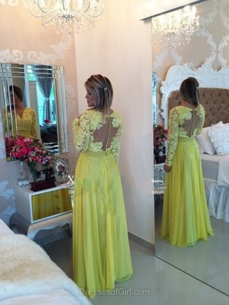 dress yellow prom fashion gown elegant formal spring homecoming dress style dressofgirl