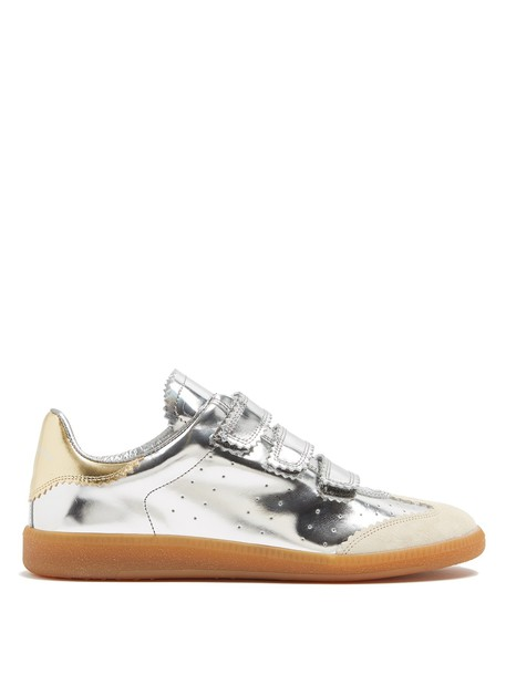 Isabel Marant top leather silver