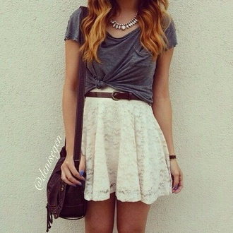 dress t-shirt skirt outfit jewels style clothes