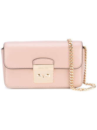 women bag crossbody bag leather purple pink