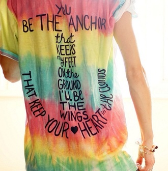 shirt tie dye anchor t-shirt teenagers glamour heart dress swimwear