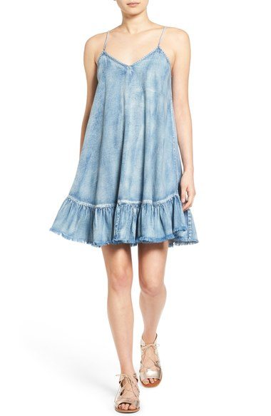 BLANKNYC Chambray Swing Dress | Nordstrom