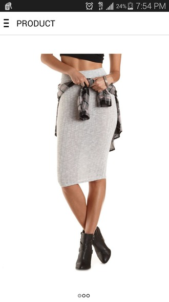 shirt grey skirt indie boho chic casual hippie bodycon skirt cute skirts sexy skirt red lime sunday
