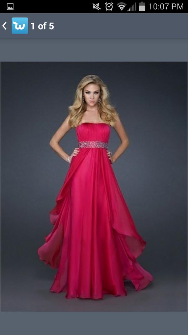 pink dress prom dress prom dress strapless dress dress