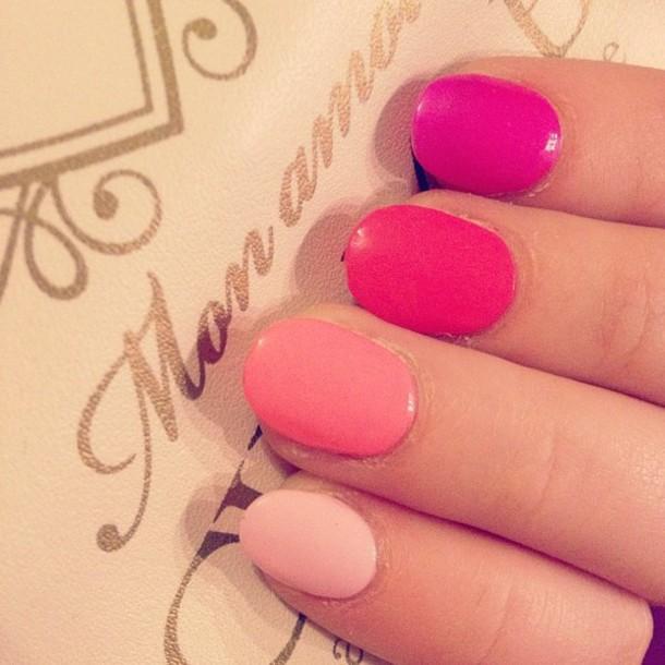 nail polish, pink, pink nail polish, shades, shades of pink, kawaii ...