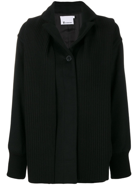 T by Alexander Wang coat women spandex black