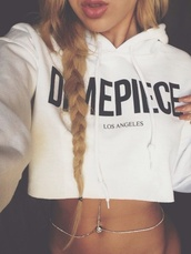 jewels,body chain,shirt,belly button ring,sweater,dime price,la,dimepiece,dope,cute,hoodie,cropped,cropped hoodie,blouse,white,crop,jacket,crop tops,jelwery,chain,top,crop top hoodie,cute top,swimwear,hipster,los angeles,winter outfits,girly,rose wholesale,hippie,streetwear,swag,instagram,urban,fashion,trendy,style,cropped sweater,white hoodie,white crop top hoodie,dimepiece hoodie,los angeles hoodie