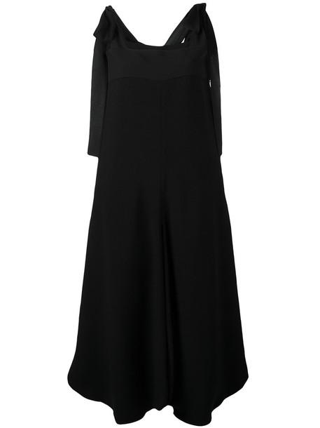 Chloe jumpsuit bow women black silk