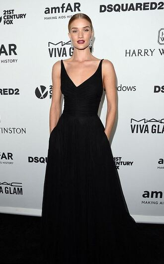 dress gown prom dress long prom dress prom gown rosie huntington-whiteley black dress