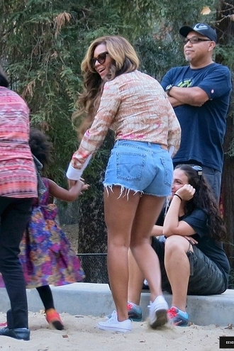 shoes blouse shorts denim shorts beyonce sneakers