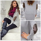 sweater,glitter,scarf,cute,pretty,elbow patches,jumper,shirt,dress,top,blouse,sequins,boots,shoes,brown dress,brown leather boots,grey sweater,grey,leggings,burgundy,cardigan,shirt dress,boho shirt,white shirt,tumblr shirt,blue shirt,gray shirt,sequin shirt,outfit,outfit idea,streetwear,street,lookbook,cool,cool girl style,fashion coolture,girly,girly wishlist