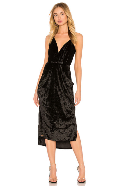 dress wrap dress midi black
