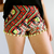 AZTEC POM POM SHORTS GREEN - spsboutique