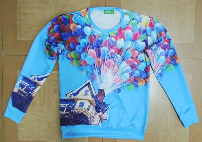 Aliexpress.com : Buy 2014 harajuku style women men plus size cute colorful balloon adventure up print 3d pullover sweatshirt free shipping Nora05115 from Reliable sweatshirt sweater suppliers on Stylish Harajuku