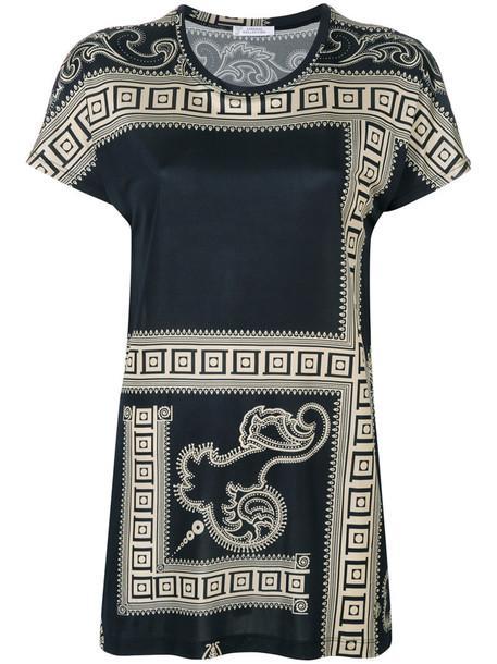 blouse printed blouse women black top
