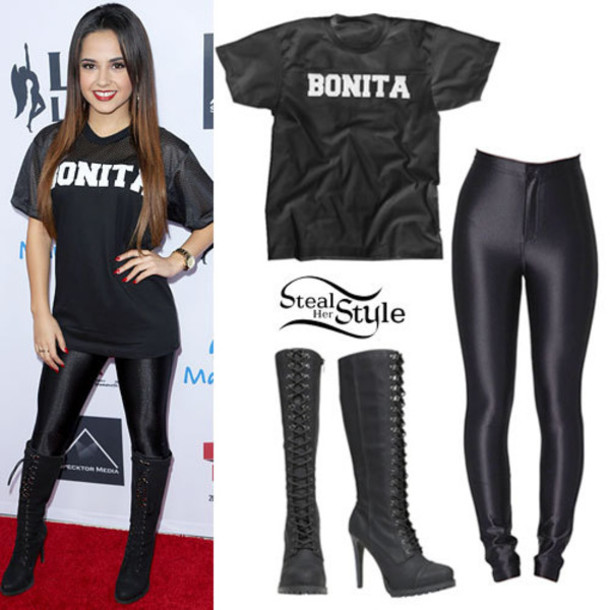 sunglasses leggings boots t-shirt